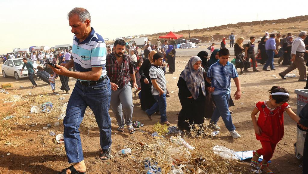 Mossoul Alep exode