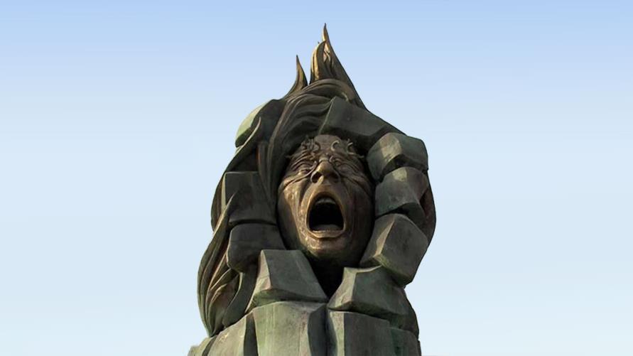 Abri statue en mémoires des 400 morts de labri