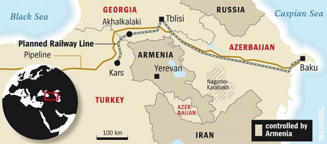 Le chemin de fer de BTK est le couloir turc de la route de la soie vers l'Asie centrale