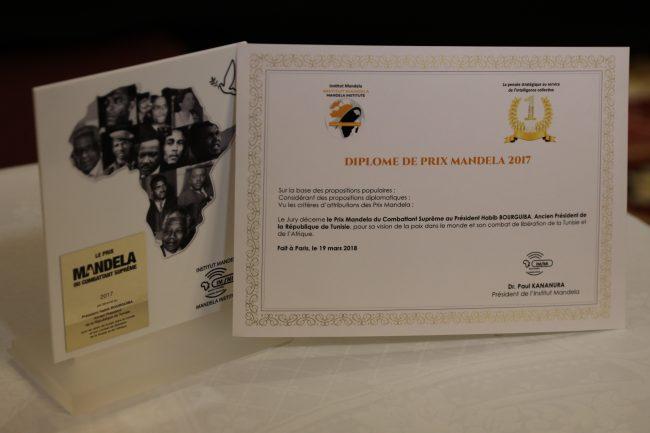 Le prix Nelson Mandela attribué à titre posthume à Bourguiba