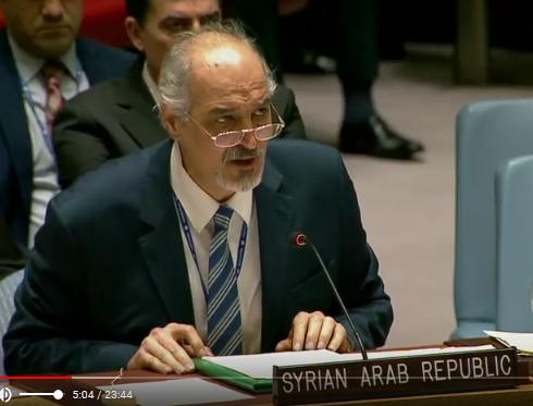 Bachar al-Jaafari : « Le mensonge pratiqué par certains États Membres permanents du Conseil de sécurité est devenu une sorte d'arme de destruction massive »