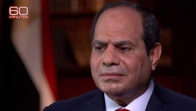 Le président égyptien Sissi en sueur lors d'une interview sur CBS