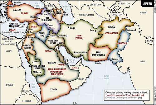 Grand Moyen-Orient : une accélération du redécoupage prévu.