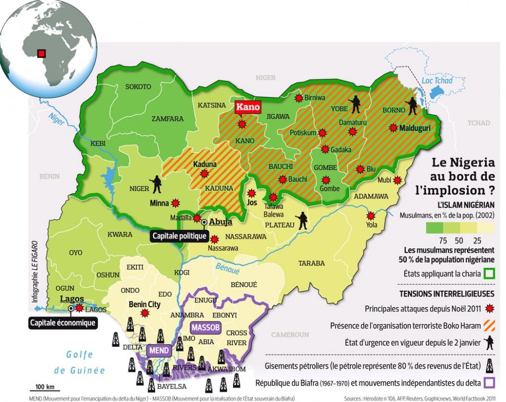 Nigeria :  Boko Haram proclame un Etat islamique