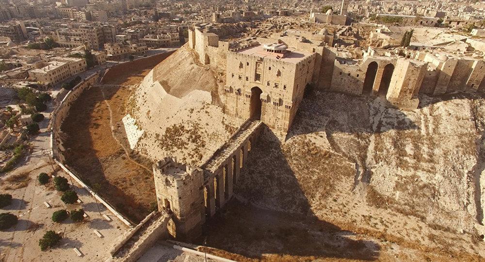 gros plan citadelle alep