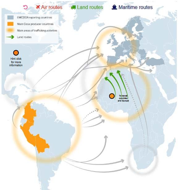 Maroc land routes