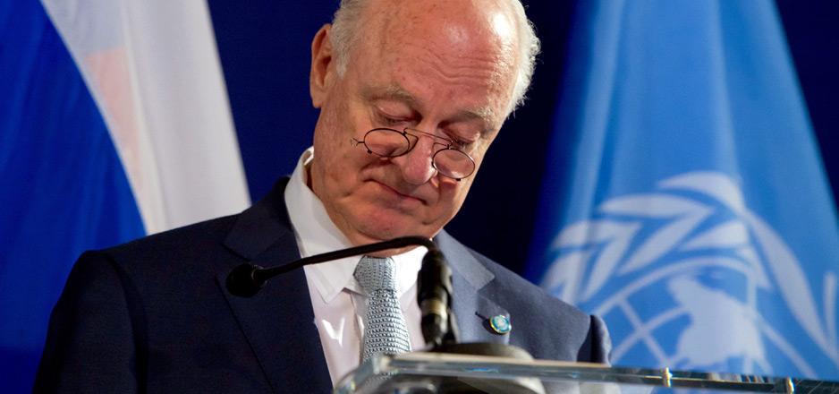 Vers le dégagement de Staffan de Mistura, l'émissaire de l'ONU pour la Syrie.