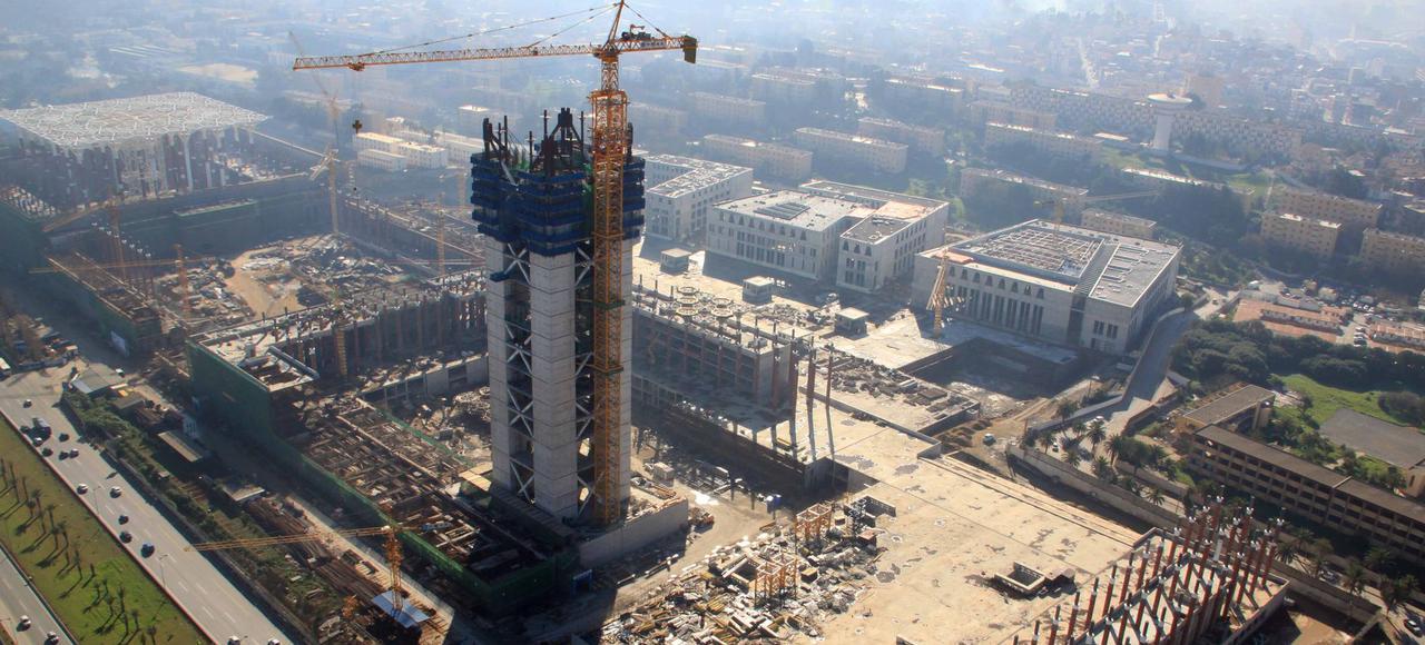 Achèvement des gros œuvres du minaret de la Grande mosquée d'Alger