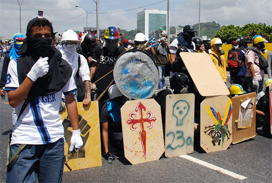 Au Venezuela, la fable des manifestations pacifiques