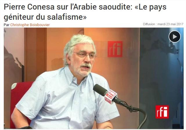 Pierre Conesa : « L'Arabie saoudite est le pays géniteur du salafisme, qui est à l'origine de tous les attentats que nous avons connus ».