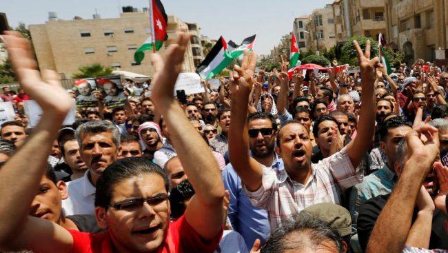 Les Jordaniens manifestent contre Israël