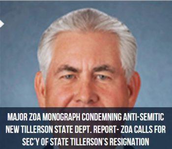Les sionistes américains demandent à Trump de virer sonSecrétaire d'État Rex Tillerson