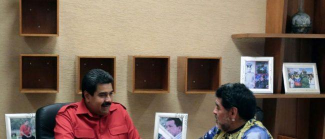 Maradona« Quand Maduro l'ordonnera, je serai vêtu comme un soldat pour un Venezuela libre, pour me battre contre l'impérialisme … »