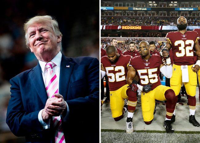 Trump défié par des joueurs du football américain