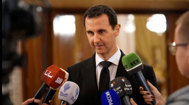 Bachar el-Assad répliquant au Quai d'Orsay : « Celui qui soutient le terrorisme n'a pas le droit de parler de paix »
