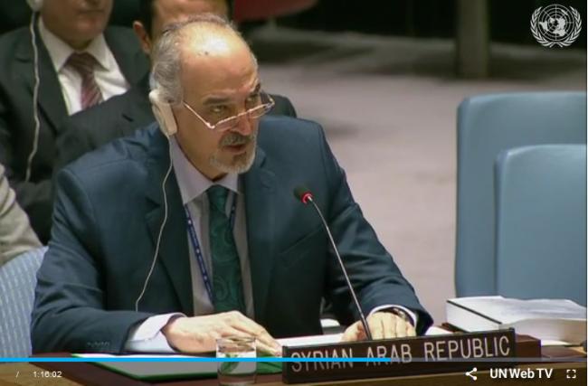 Syrie : Bachar al-Jaafari répond à Washington, Londres, Paris et Staffan de Mistura