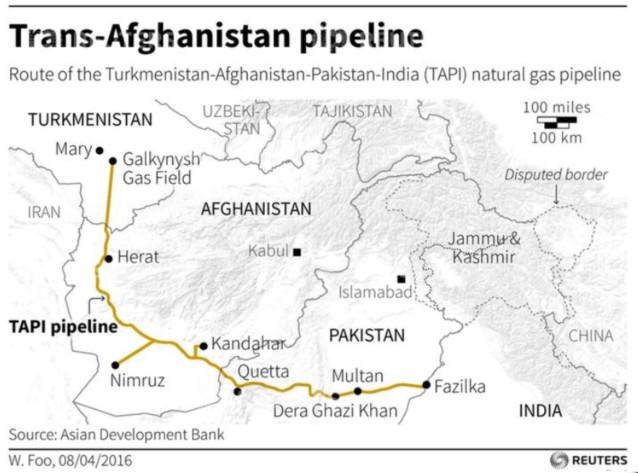 Afghanistan – Le pipeline, la paix, et les saboteurs