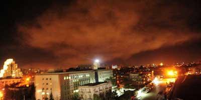 Salve de missiles dans le ciel de Damas