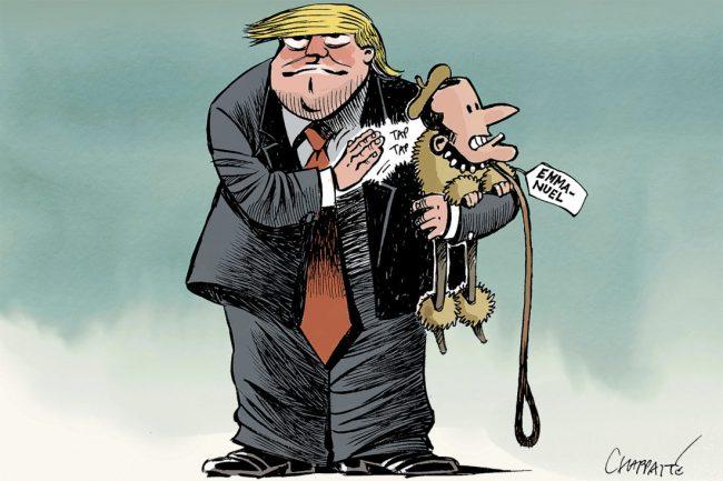 La dangereuse idylle de Macron avec Trump