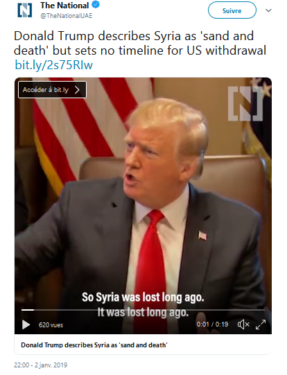 Syrie : « sable et mort » ou pétrole et gaz ?