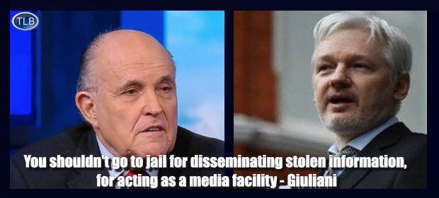 Pour Rudy Giuliani, avocat de Trump, Assange ne devrait pas être poursuivi