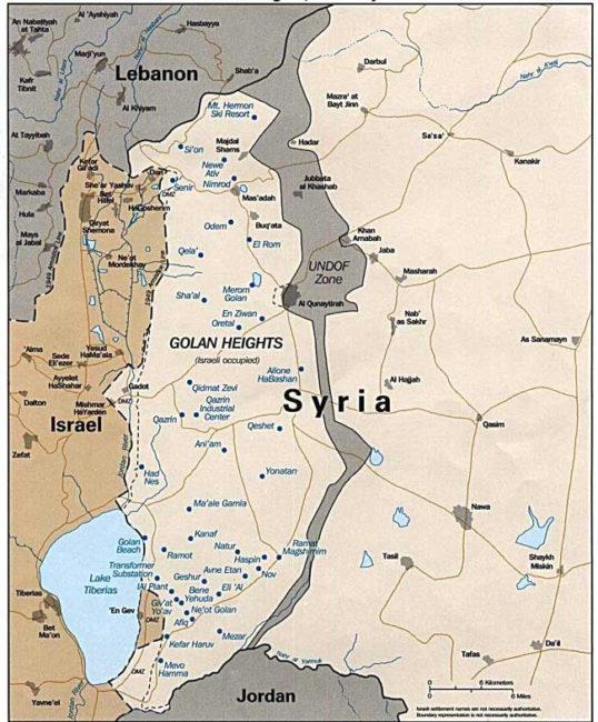 L'initiative de Trump au sujet du plateau du Golan…