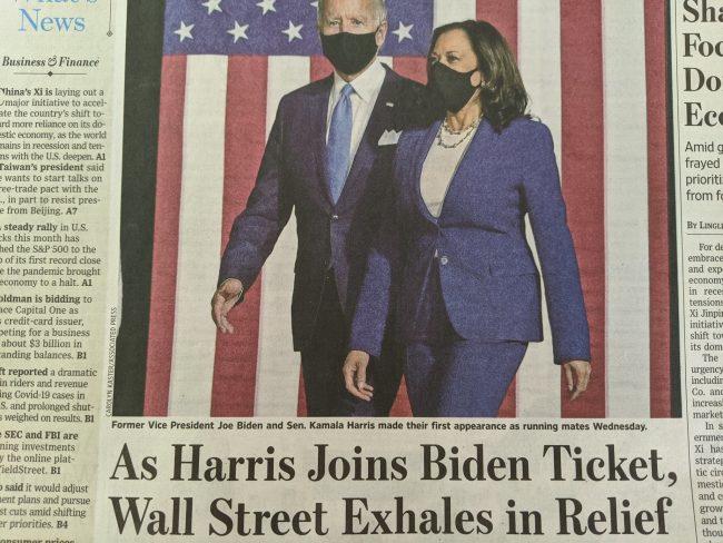 USA : le choix de Harris comme candidat à la vice-présidence augmente les chances déjà élevées de voir Joe Biden perdre l'élection présidentielle