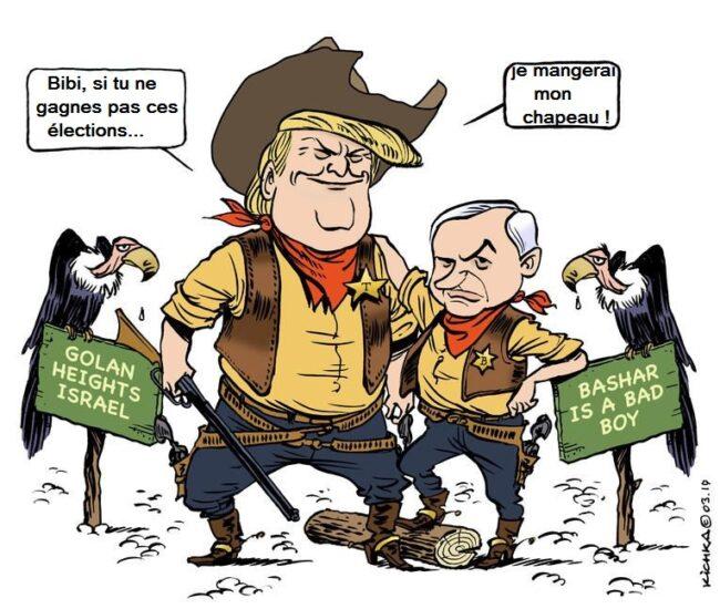 Golan syrien occupé : Pour l'Onu, le cadeau de Trump à Bibi est nul, non avenu et sans effet juridique…