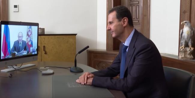 Bachar Al-Assad à Vladimir Poutine : « Le plus grand obstacle au retour des réfugiés est le blocus imposé par l'Occident à la Syrie, à son État et à son peuple »