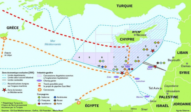 Plan à trois en Méditerranée orientale