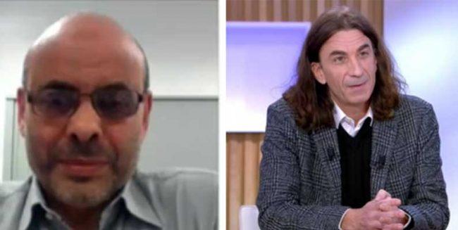 Abbas Aroua (le chauve) un coiffeur «halal» pour Didier Lemaire (aux cheveux longs)