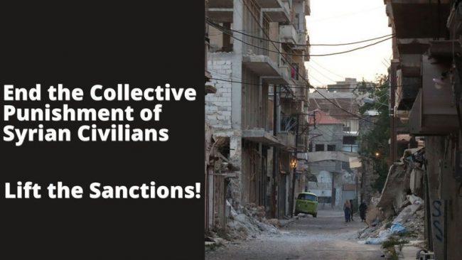Pour la levée des sanctions contre la Syrie: diffusez, partagez, encouragez vos amis àsigner.